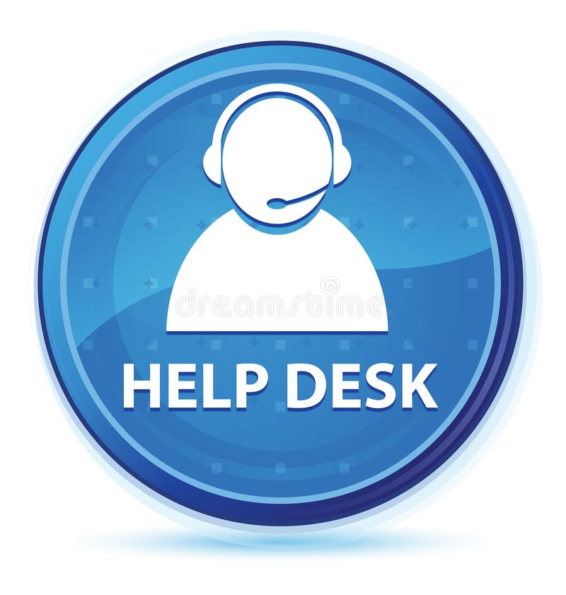 Help desk (customer care icon) midnight blue prime round button. Help desk (customer care icon) isolated on midnight blue prime round button abstract royalty free illustration