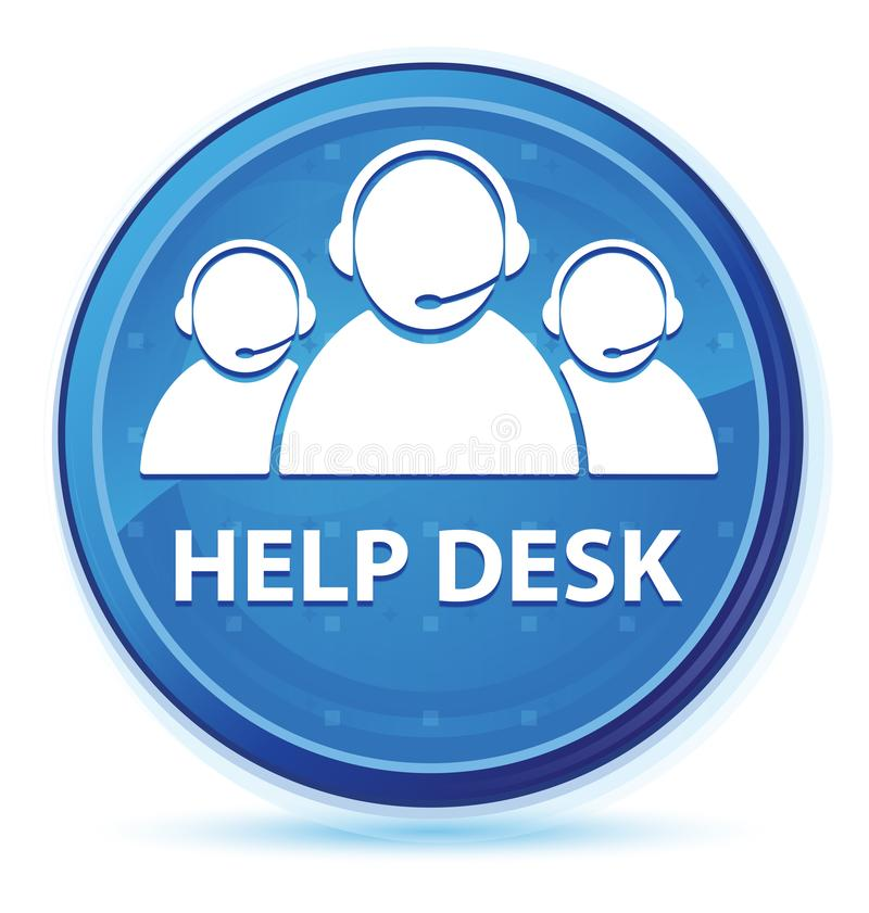 Help desk (customer care team icon) midnight blue prime round button. Help desk (customer care team icon) isolated on midnight blue prime round button abstract royalty free illustration