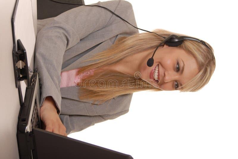 Help Desk Girl stock photo