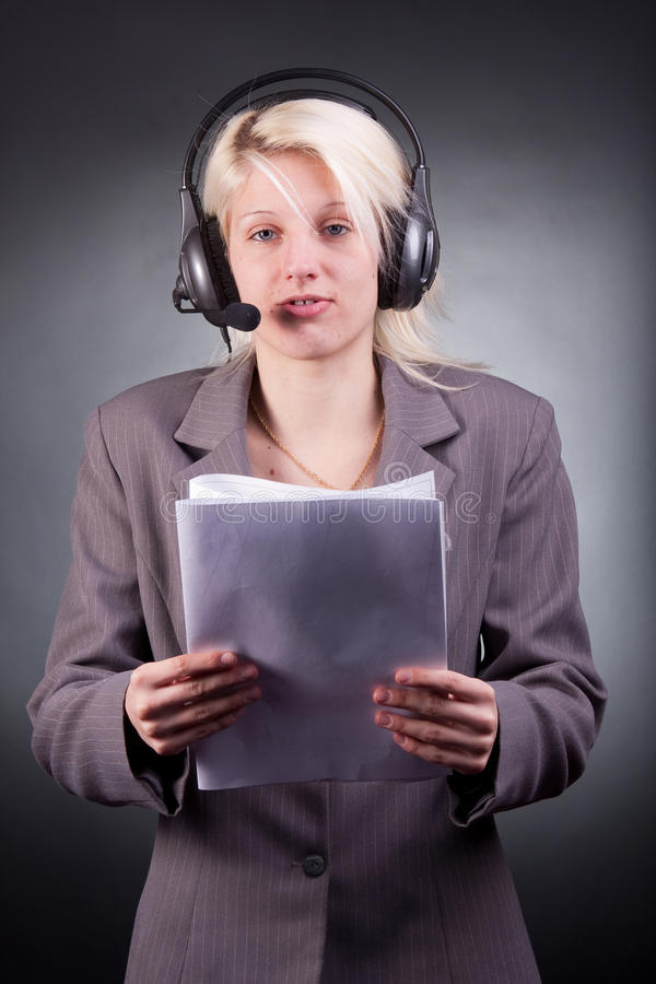 Download Help desk service stock photo. Image of blond, communicate - 21210278