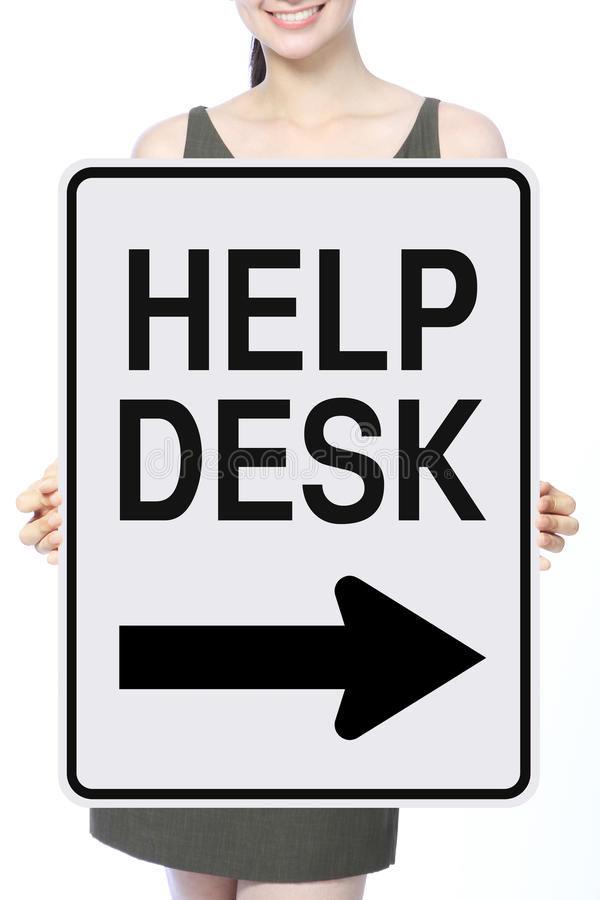 Help Desk This Way royalty free stock image