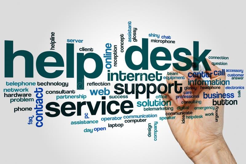 Help desk word cloud royalty free stock image