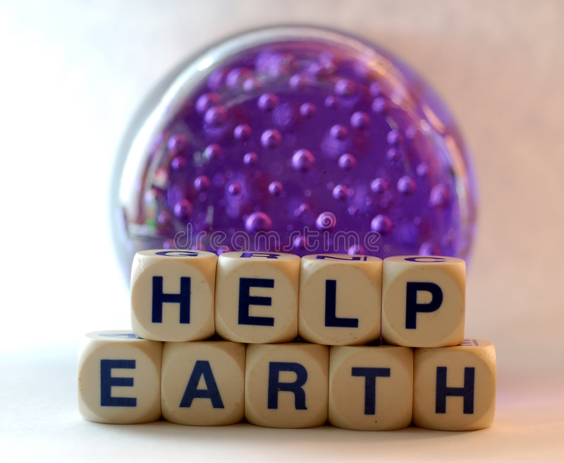 Help earth royalty free stock photo