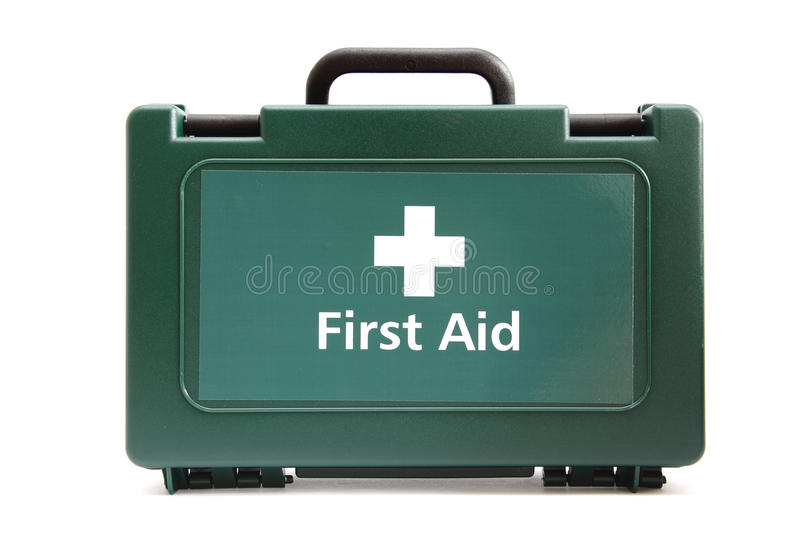 Medical Green First Aid Box Royalty Free Stock Photos