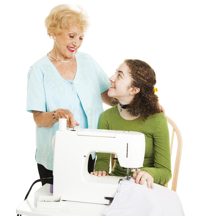 Help From Grandmother stock photography