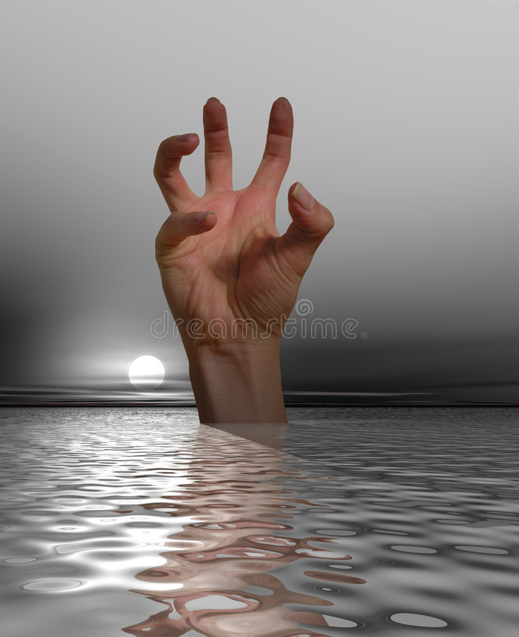 Help, I'm Drowning stock images