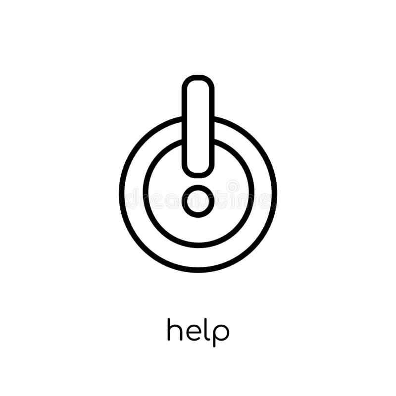 Help icon from collection. Help icon. Trendy modern flat linear vector help icon on white background from thin line collection, outline vector illustration stock illustration