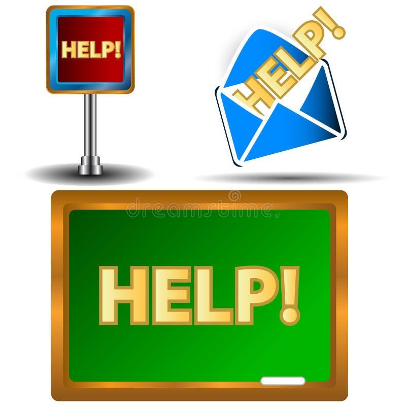 Help icons set vector illustration