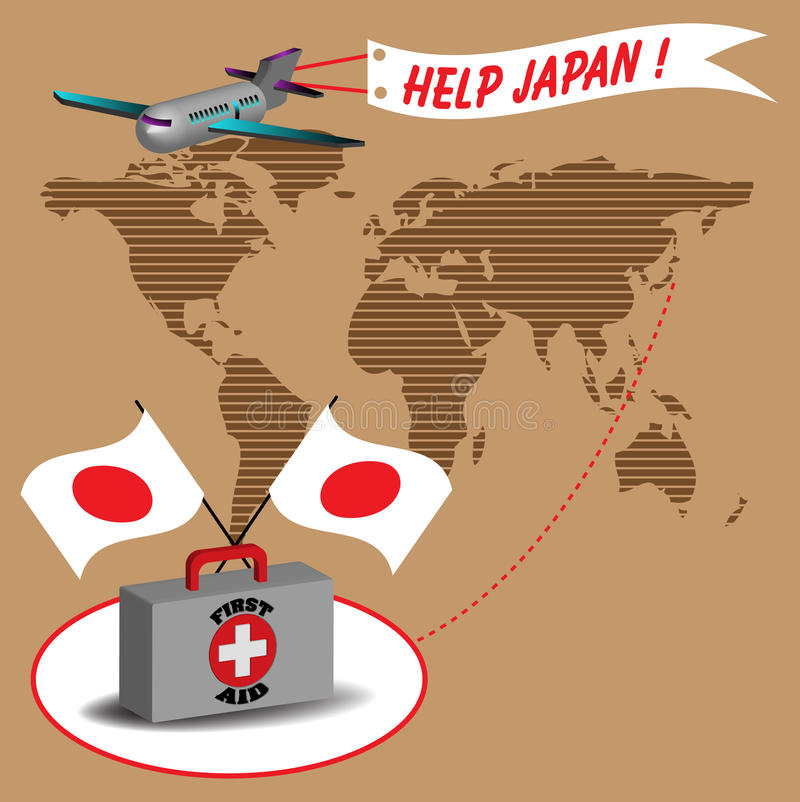 Download Help Japan stock vector. Image of first, aircraft, earthquake - 19157377
