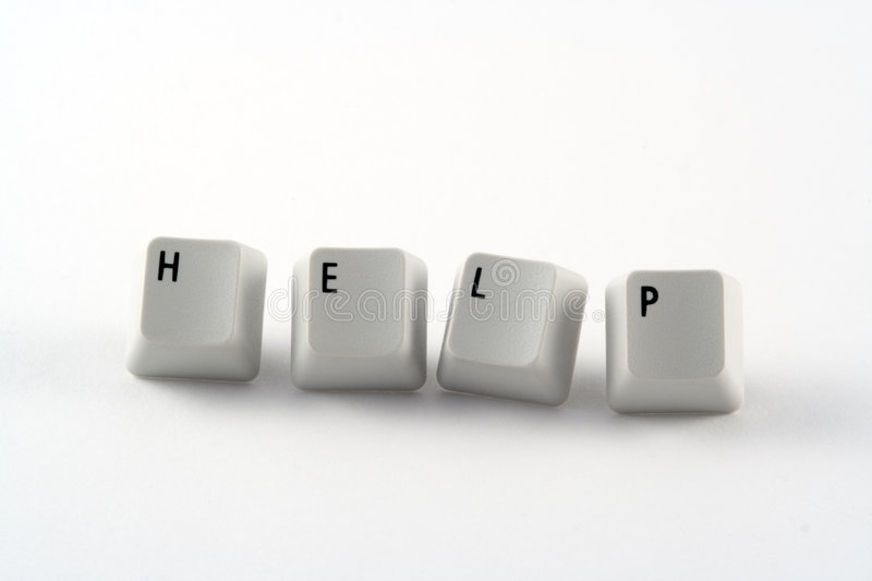Help Keys stock image