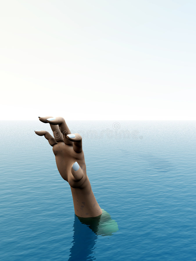 Download Help Me 73 stock photo. Image of swimming, victim, seascape - 5298040