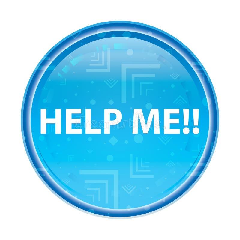 Help me!! bloemen blauwe ronde knoop vector illustratie
