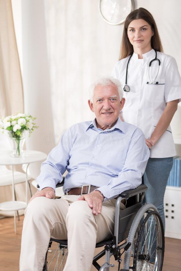Help of a nurse royalty free stock image