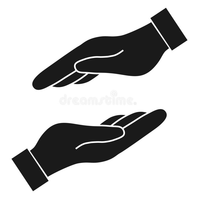 Help and protect Hand vector illustration