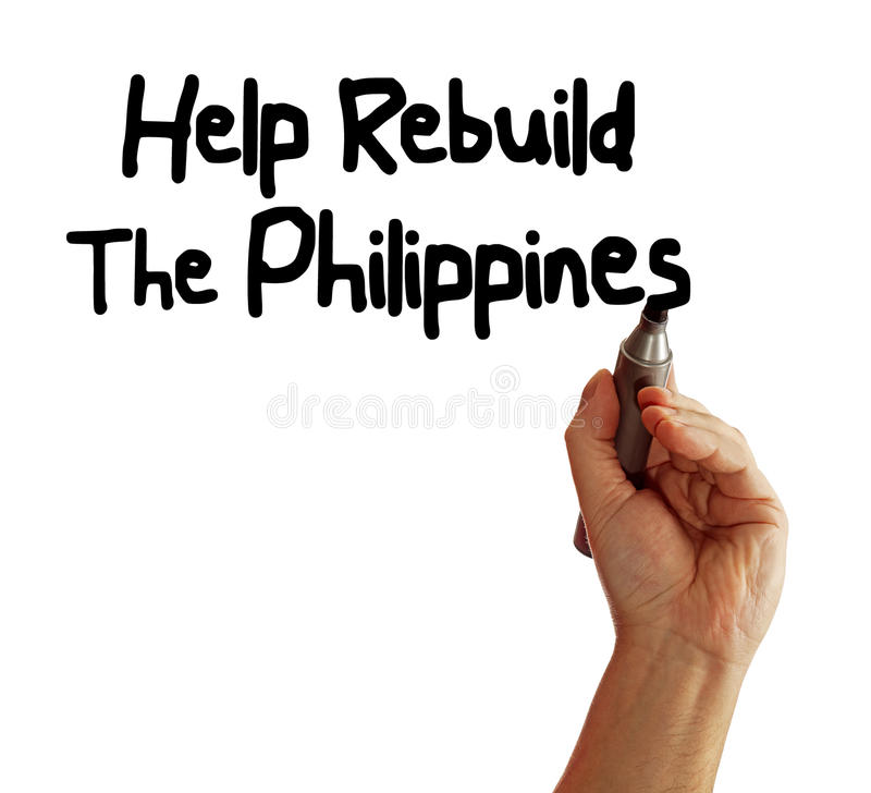 Free Help Rebuild The Philippines Stock Images - 35212514