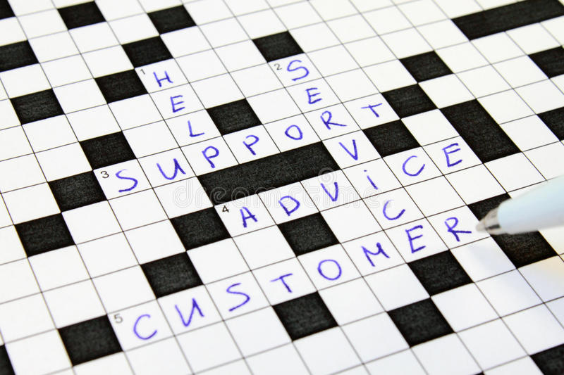 Download Help, Support, Advice, Customer, Service Crossword Stock Photo - Image: 12225616