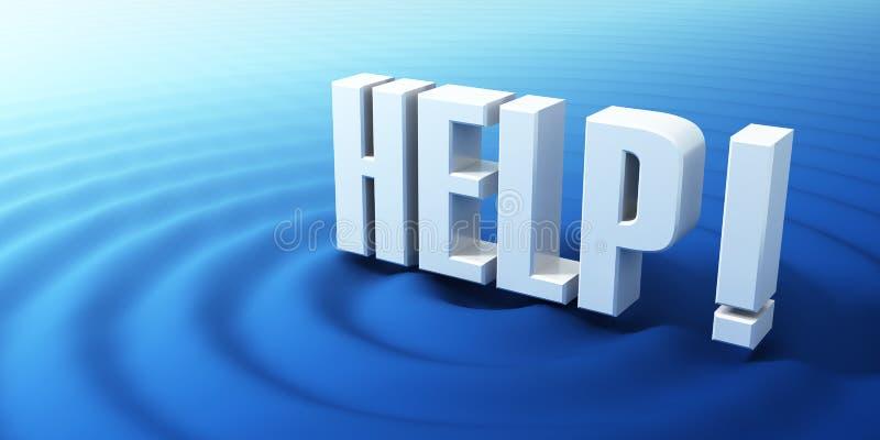 HELP symbol. Concept of the Help symbol royalty free illustration