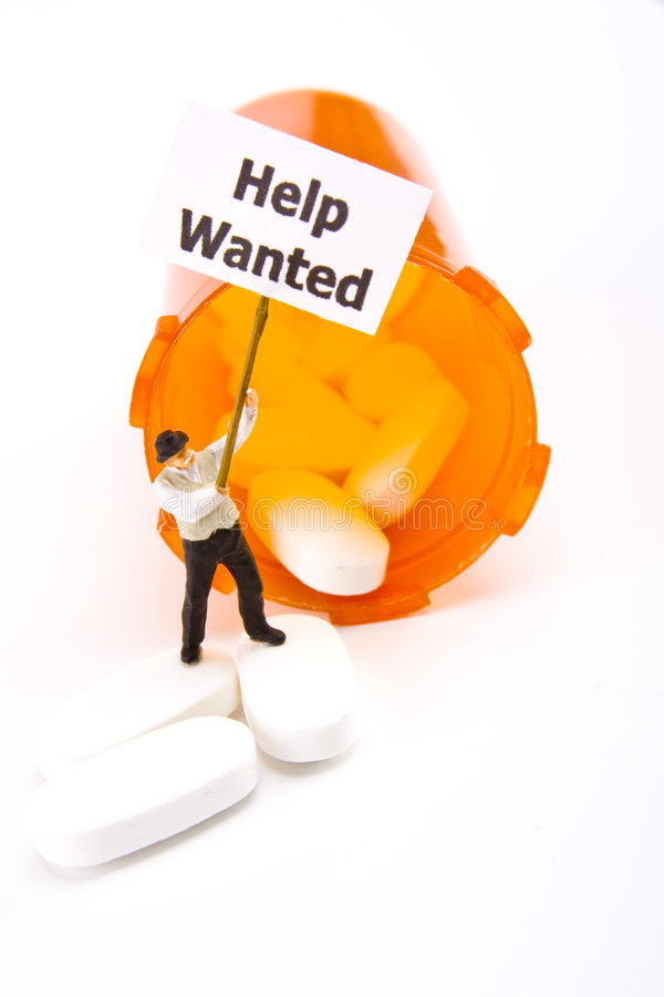 Help Wanted Prescription Concept Stock Photography