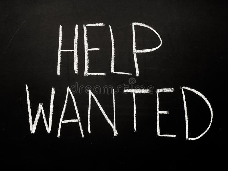 Help wanted sign. For job royalty free stock image