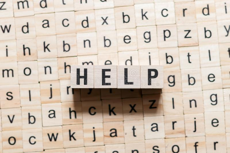 Help word concept royalty free stock photos