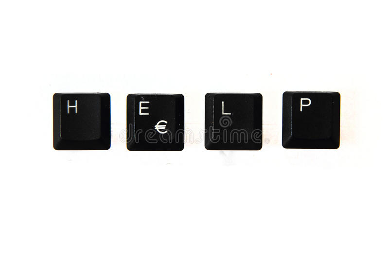 Download Help - Word From Keyboard Keys Stock Image - Image: 37564325