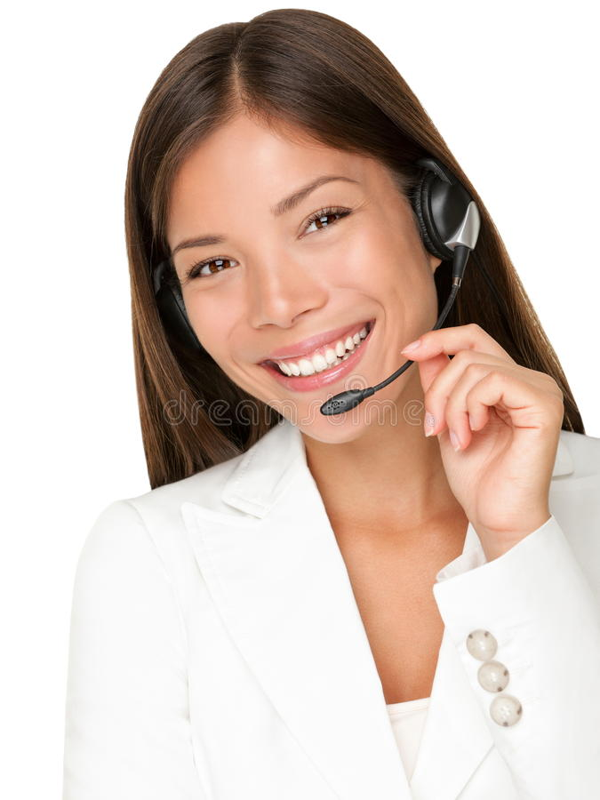 Free Helpdesk Customer Service Headset Woman Stock Images - 18884624