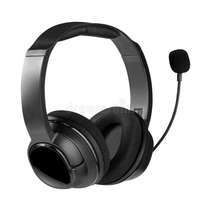Helpdesk headset. Isolated on white stock images