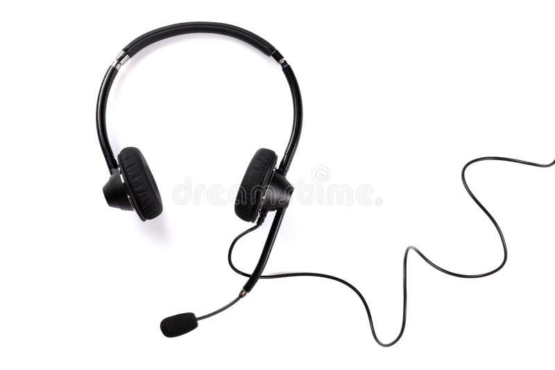 Helpdesk headset stock image