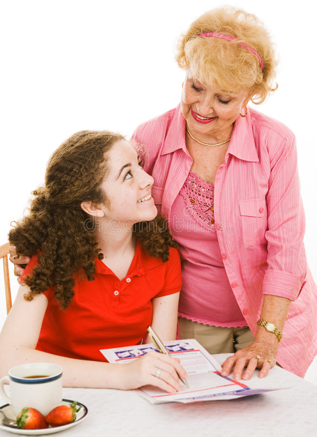 Download Helpful Grandma stock image. Image of person, registration - 5250551