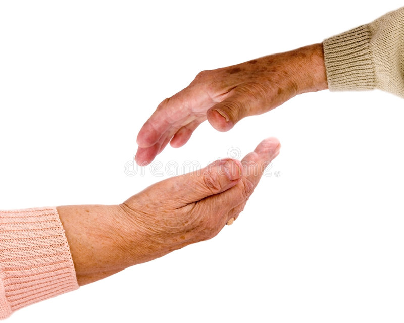 Helpful hands royalty free stock photos