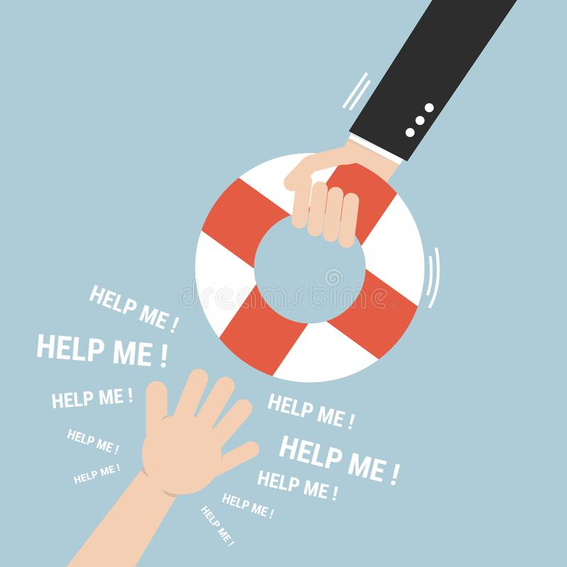 Helping Business to survive. Help concept. vector illustration