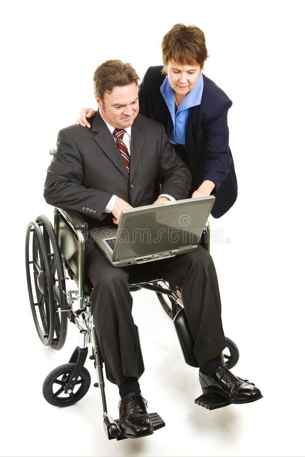 Download Helping Disabled Businessman Stock Image - Image: 10686567