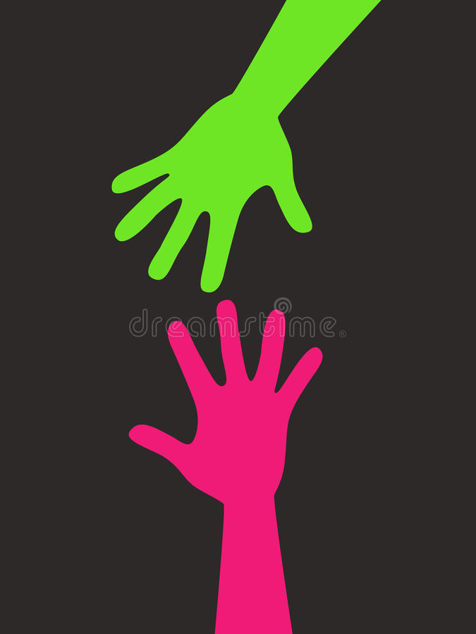 Download Helping hand stock vector. Illustration of dark, palm - 13388354