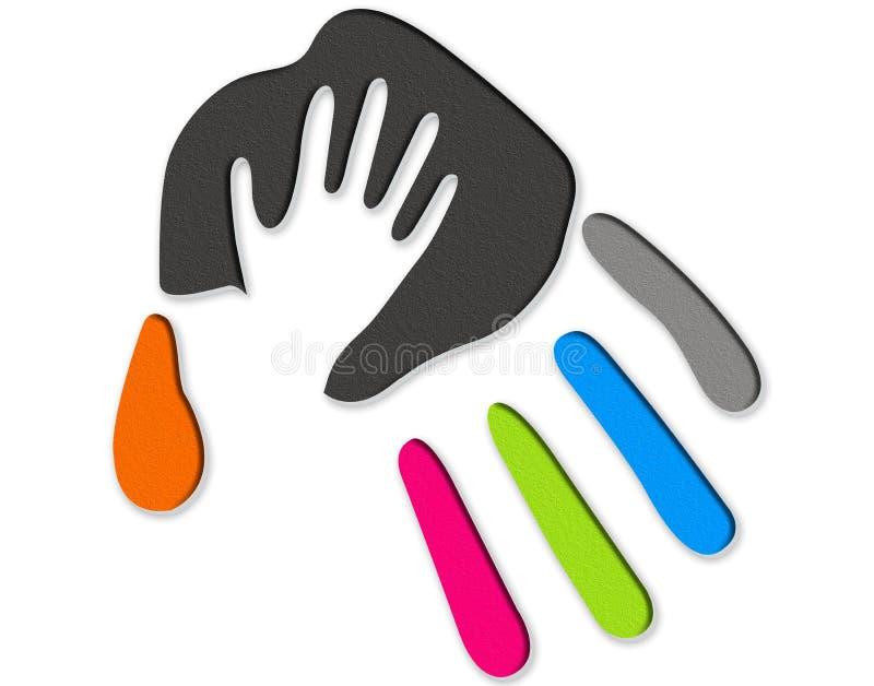Helping hand vector illustration