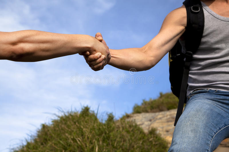 Download Helping hand stock image. Image of help, muscular, mountain - 25703411