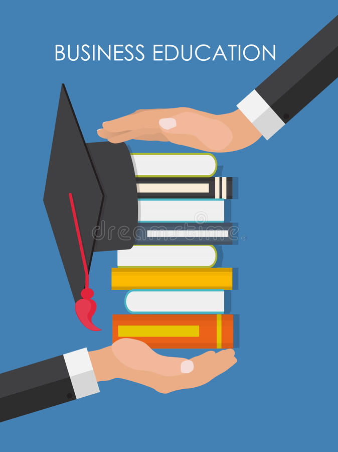 Helping Hand. Business Education Concept. Trends and innovation royalty free illustration