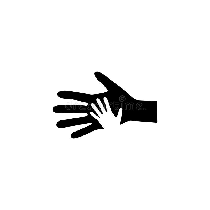 Helping hand icon. vector royalty free illustration