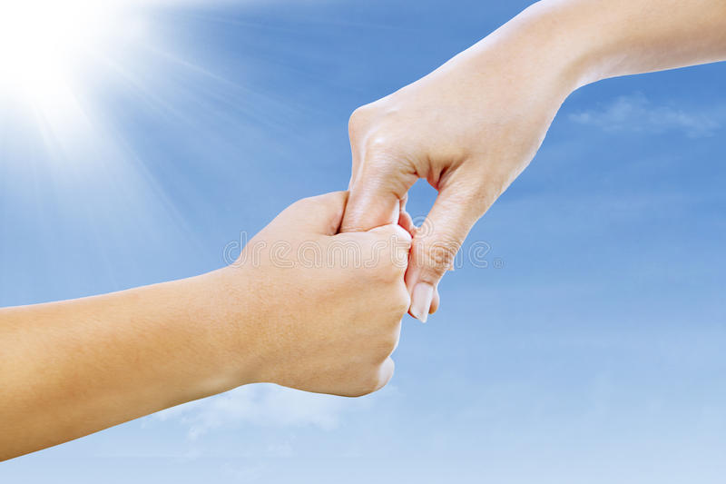 Download Helping Hand Under Blue Sky Stock Image - Image: 28849881