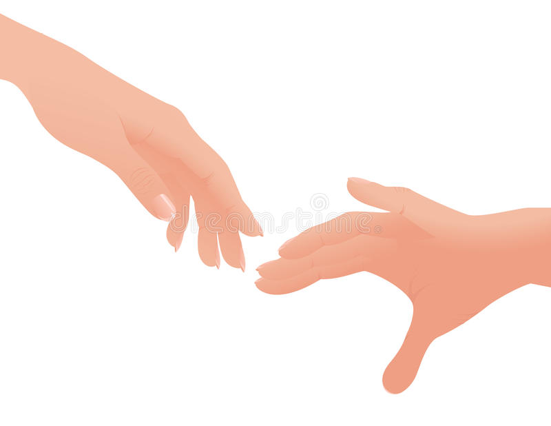 Download Helping hands stock vector. Illustration of extend, illustration - 10858784