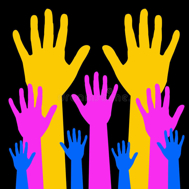 Download Helping hands stock illustration. Image of encouraging - 15812651
