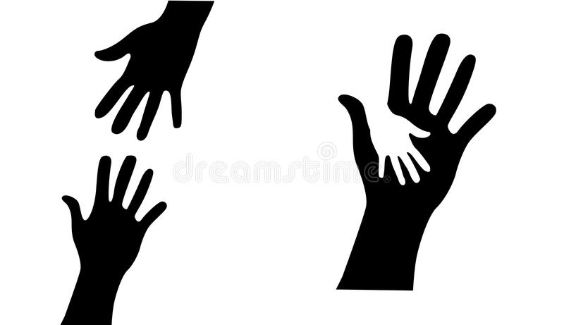 Helping Hands royalty free illustration