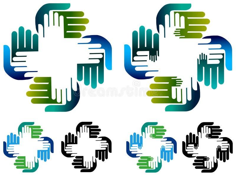 Helping hands stock illustration