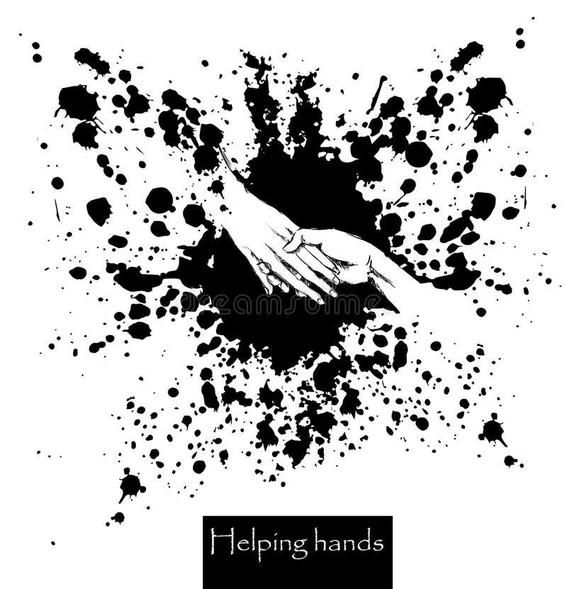 Helping hands. vector illustration