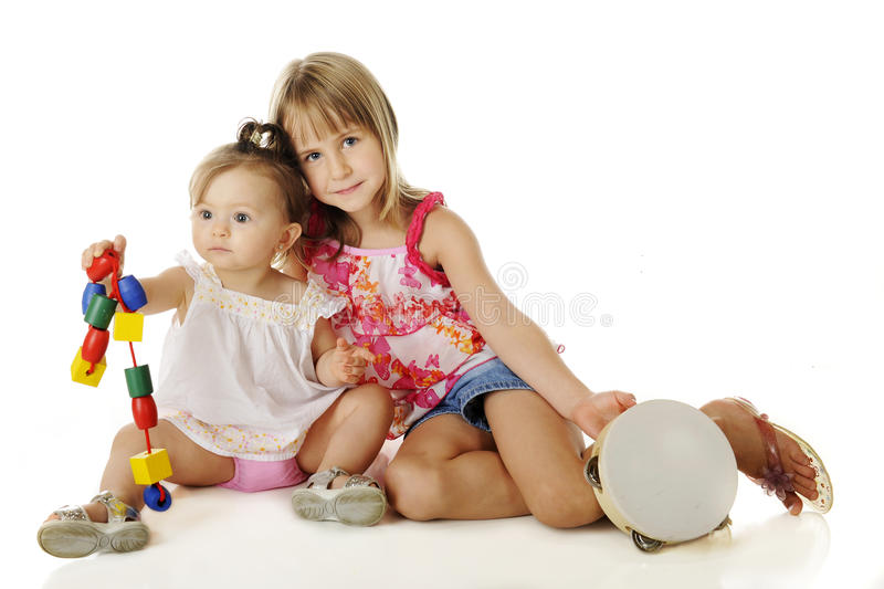 Download Helping Sister Play stock photo. Image of elementary - 26710828