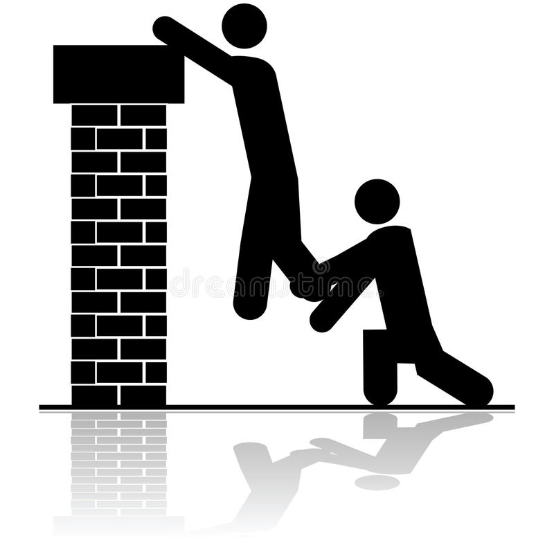 Free Helping To Lift Someone Over A Wall Royalty Free Stock Image - 40467156