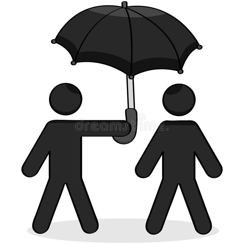 Free Helping Umbrella Royalty Free Stock Photography - 27559357