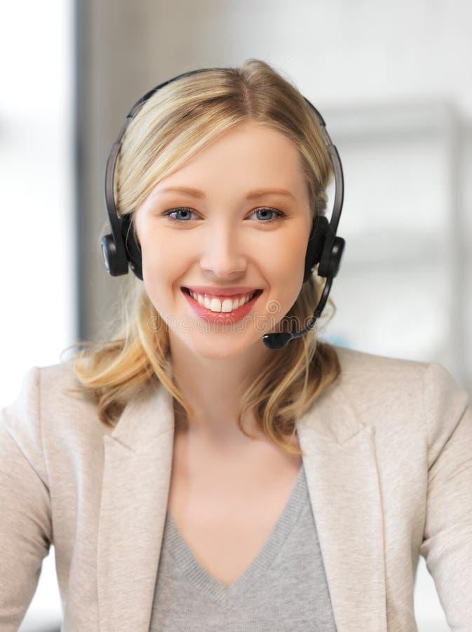 Helpline życzliwy żeński operator fotografia royalty free