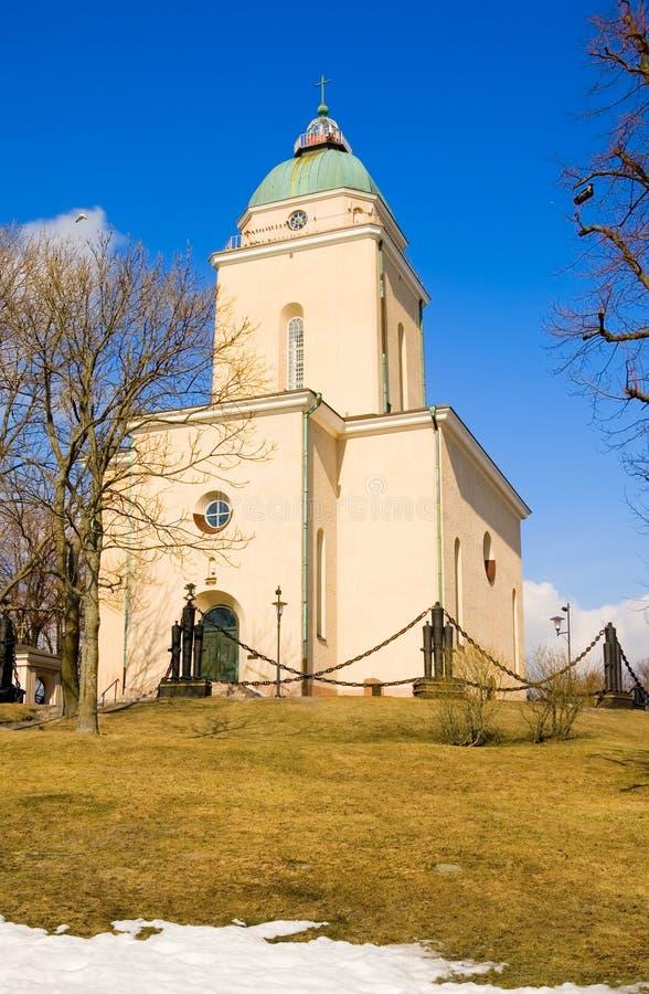helsínquia finland Igreja de Suomenlinna imagem de stock royalty free