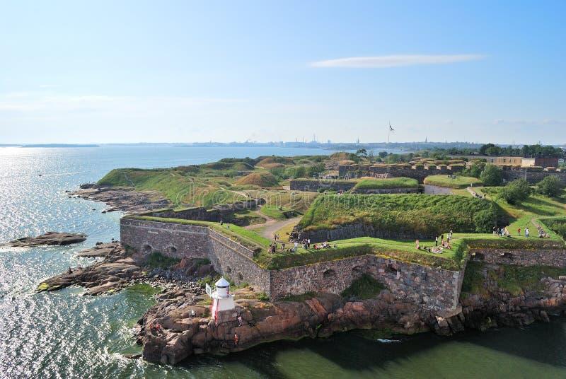 Helsínquia, fortaleza de Suomenlinna imagem de stock