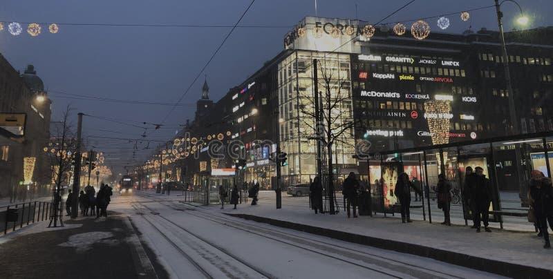 Helsínquia no inverno fotografia de stock